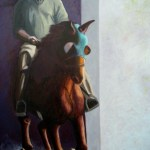 """""""Training Session"""", oil painting. Morgan stables in Vermont."""