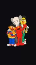 Kaws X Sesame Street 720x1280 Wallpaper teahub io