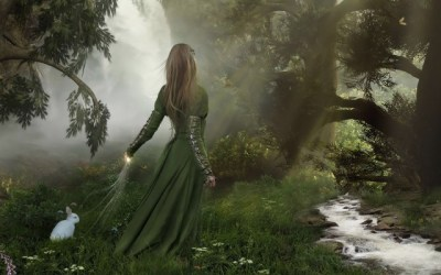 Enchanted Forest Girl Forest Fantasy 2560x1600 Wallpaper teahub io
