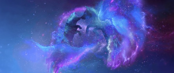 Wallpaper Wolves Silhouettes Stars Galaxy Universe Galaxy Wolf Wallpaper Ipad 2560x1080 Wallpaper teahub io
