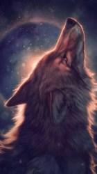 Moon Purple Wolf Wallpaper