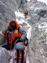 Tough climb to the peak