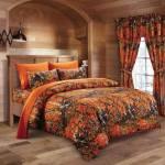 Orange Camo 4 Piece Bedding Set Swamp24