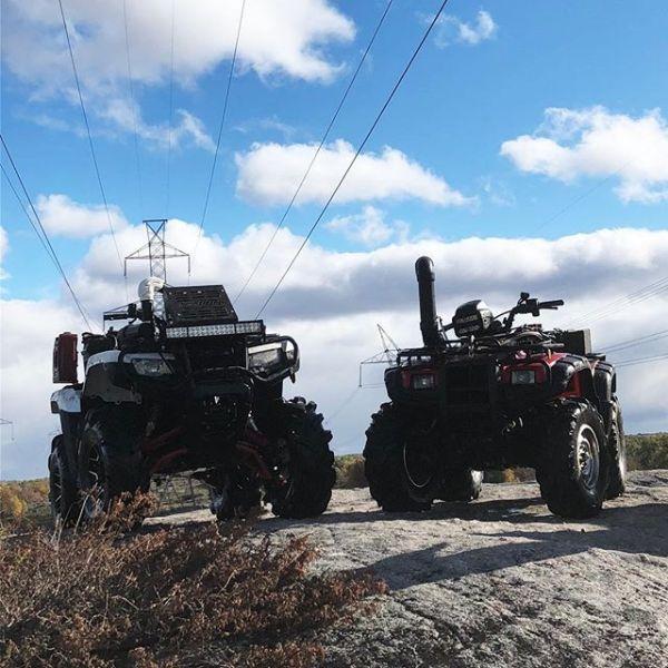 #honda. Only machines not to break on off-road weekend.