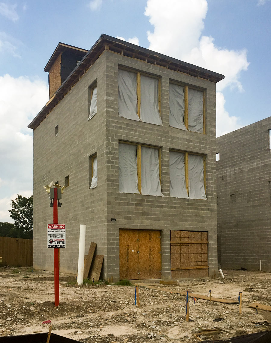 The New ConcreteBlock Homes on a Fifth Ward Block by the Tracks  Swamplot