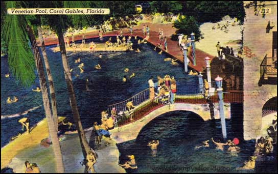 Swampy s postcard monday the venetian pool coral gables for Pool show coral gables