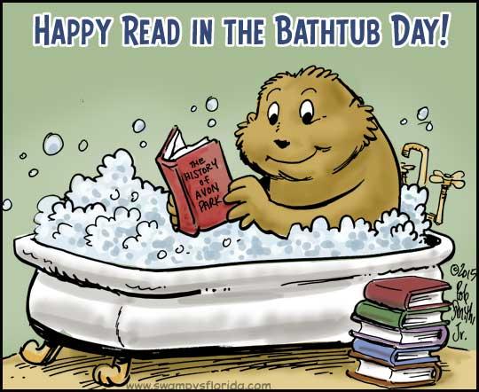 Swampy's #florida Says Happy Read In The Bathtub Day
