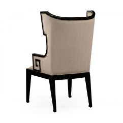 Chair Designer Charles All Modern Leather Dining Armchair Wing Swanky Interiors