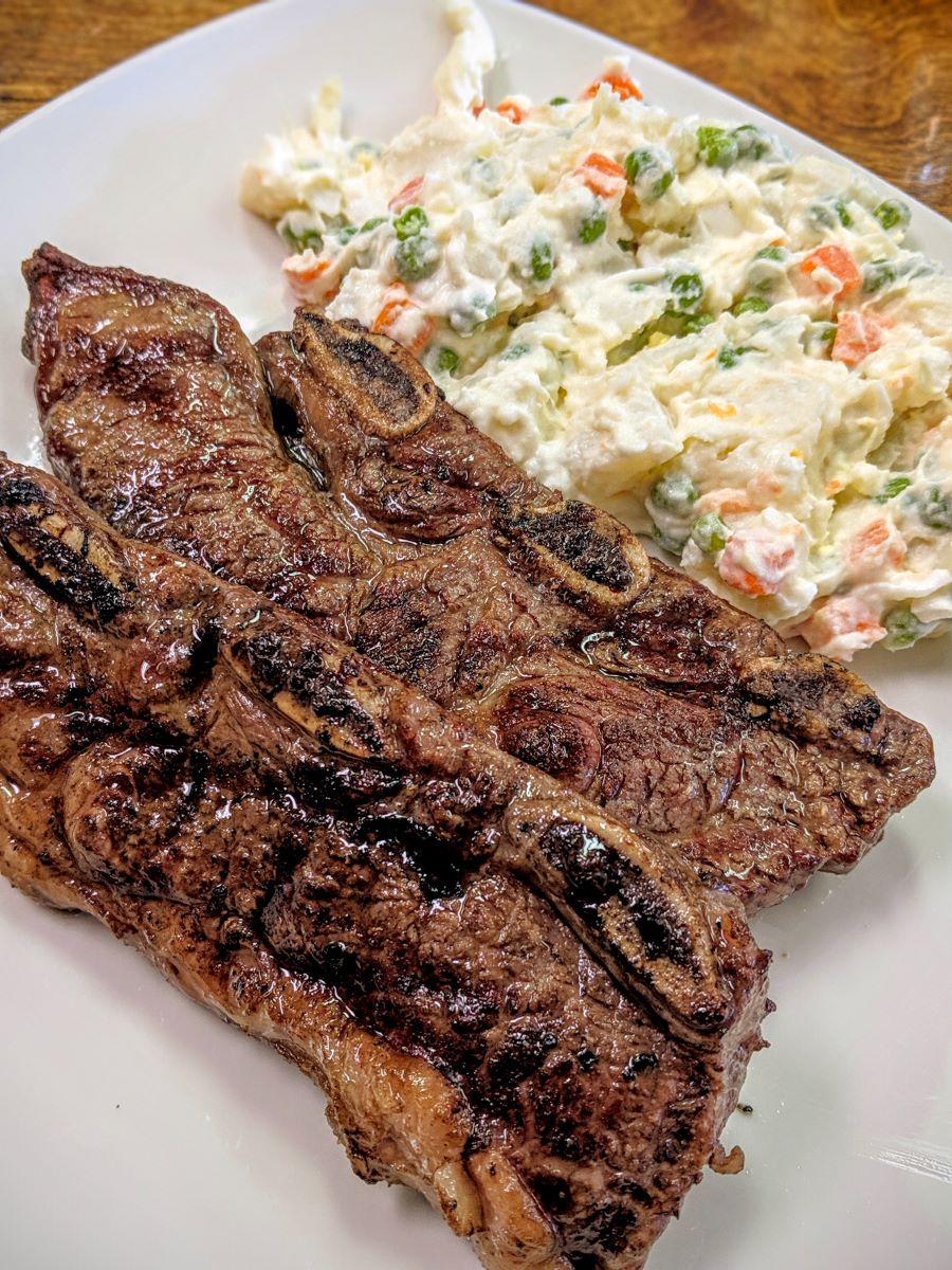 short ribs & olivier salad