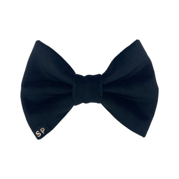 Black dog bow tie great for weddings and casual occasions. Made from a luxury soft velvet this premium bow