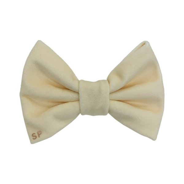 Yellow dog bow tie. This designer velvet bow is very soft and perfect for any occasion. Australia Made