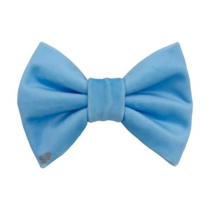 Light blue dog bow tie in a luxury velvet. Australia made by hand