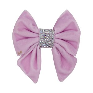 Pink dog wedding bow. Sailor shape with Swarovski crystals in the centre to make it bling