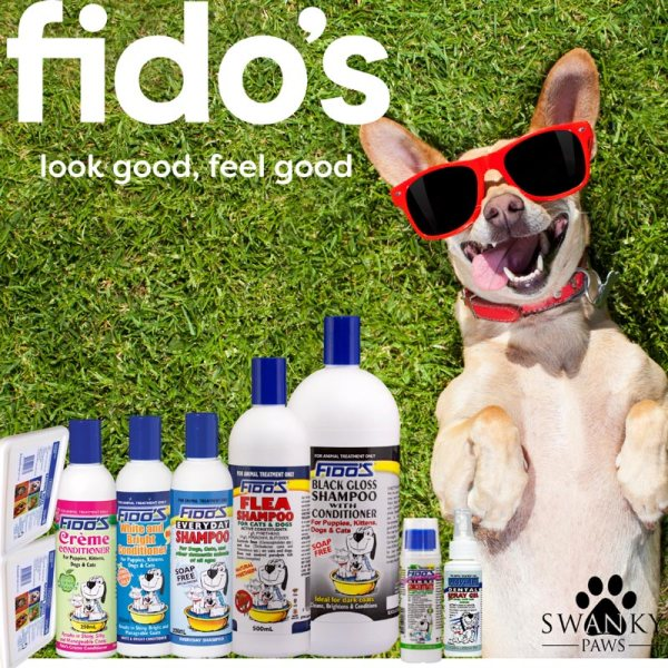 massive pack of dog shampoo and conditioners from fidos to win at the swanky paws charity book raffle