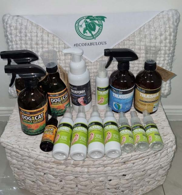 TRUEECO pack to win at the swanky paws charity book raffle