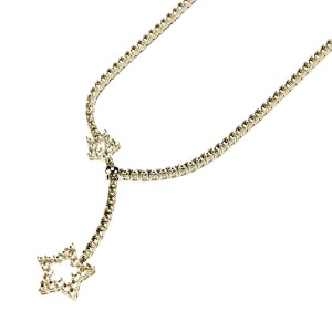 Star Shape Decorated Fashion Tennis Necklace