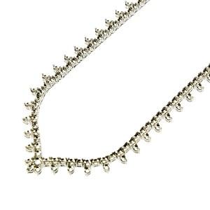 V-Tip, Protrude Half-way Fancy Tennis Necklace