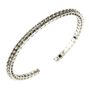 Illusion(Crown) Squared Basket Tension(Wired) Flexible Bangle/Cuff