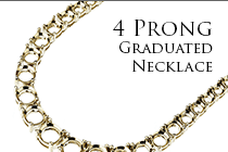4 Prong Graduated Necklace
