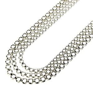 Illusion 3 Graduated Rows Half Way Fancy Tennis Necklace