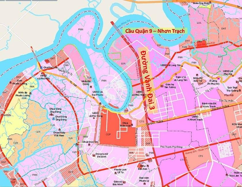 Quy hoạch giao thông tại Nhơn Trạch