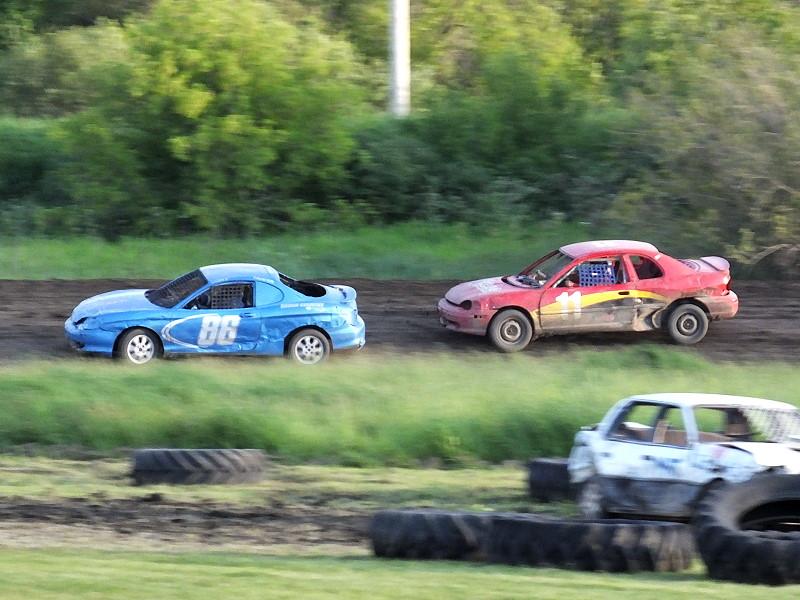 Stock Car Race and 4 Cylinder Mini Crash Derby  Swan