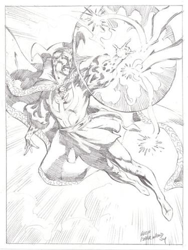 Doctor Strange, pencils by comics artist Geof Isherwood