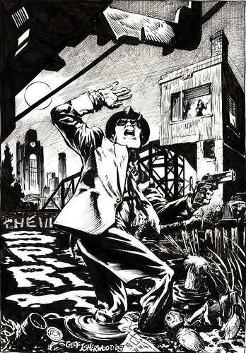 The Spirit, pencils and inks by comics artist Geof Isherwood