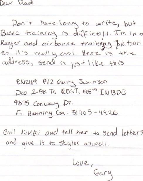 Letter from Jr