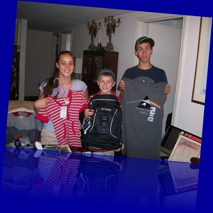 Back to school Christina, Gary Jr., PJ - 2007