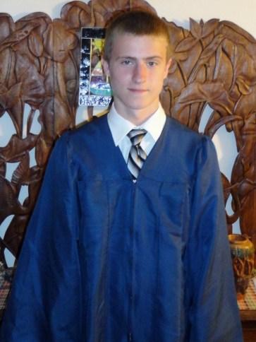 PJ in his Graduate gown EHS Graduation June 17th 2011