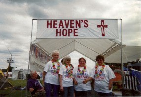 Christine (with others) Walks for 'Relay for Life'