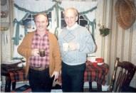 George and Martin Christmas 1988