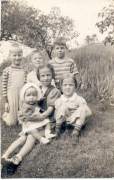 Phil, George, Ed, Chris, Ingrid, Arlene as children