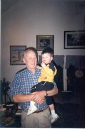 Phil with grandson Mitchell 2004