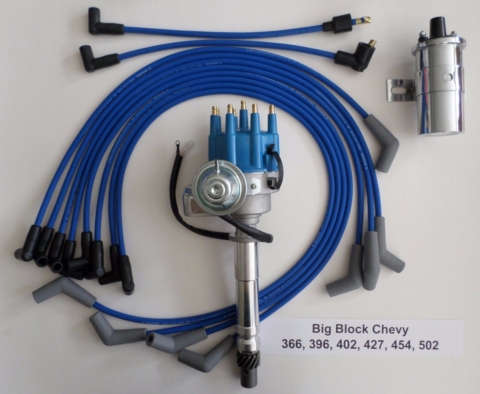 hight resolution of big block chevy 396 427 u0026 454 blue small hei distributor 45k coilsmall block chevy coil