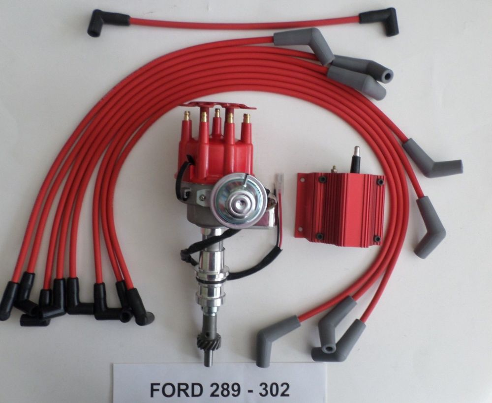 medium resolution of distributors with coil spark plug wires archives swapmeetparts 1985 ford bronco 351 ignition wiring ford 289 coil wiring