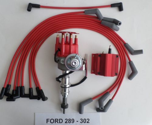 small resolution of distributors with coil spark plug wires archives swapmeetparts 1985 ford bronco 351 ignition wiring ford 289 coil wiring