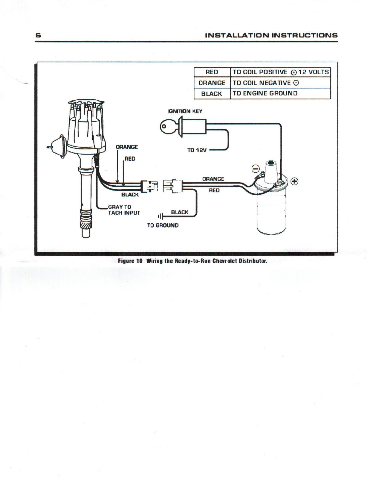 hight resolution of small cap chevy inline 6 cylinder 235 black hei distributor chromechevy distributor wiring 13