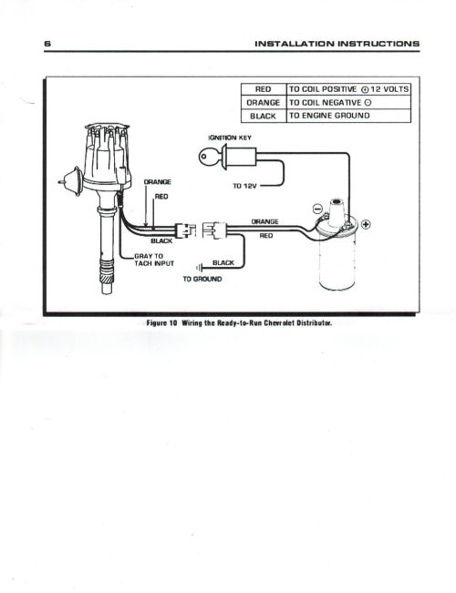 small resolution of small cap chevy inline 6 cylinder 235 black hei distributor chromechevy distributor wiring 13