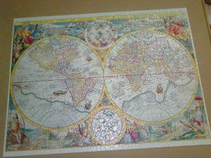 jigsaw showing old-fashioned world map