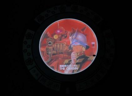 LED Anime-Themed Manhole Covers Take Over Tokorozawa City in Japan Mobile Suit Gundam The Origin 6