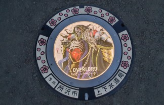 LED Anime-Themed Manhole Covers Take Over Tokorozawa City in Japan Overlord