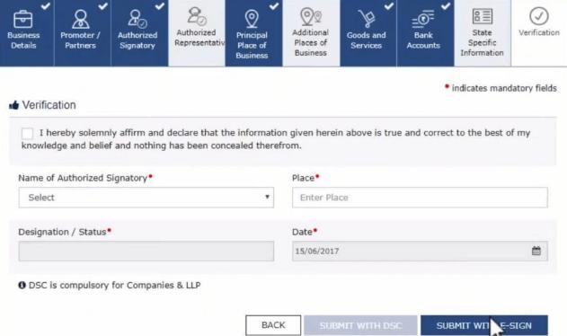 GST Registration process step by step