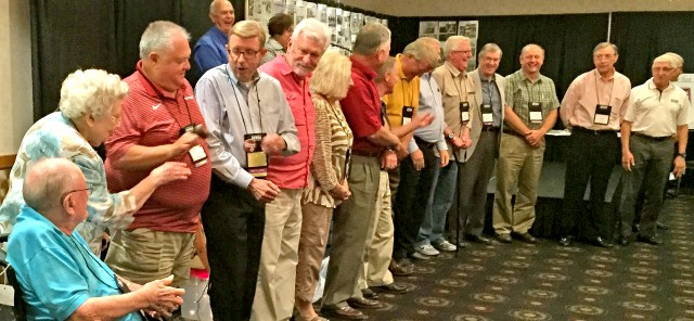 APA Tradition: Louie Graves (third from left) of The Nashville Leader participated in the traditional passing of the gavel from APA past presidents to the incoming president at the APA convention.