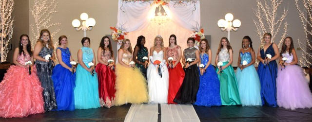 The NHS Homecoming royalty includes Audra Hughes, Alyssa Harrison, Nicole Dodson, Emily McCauley, Anna Kesterson, Bailey Dougan, co-maid of honor Asia Munn, Queen Kaylea Carver, co-maid of honor Allison Reeder, Gabi Dougan, Erica Linville, Kerri Murphy, Asia Harris, Kacey Hinds, and McKenzie Morphew. Homecoming ceremonies were held Friday afternoon, Oct. 7, at Scrapper Arena and Friday night at Scrapper Stadium.