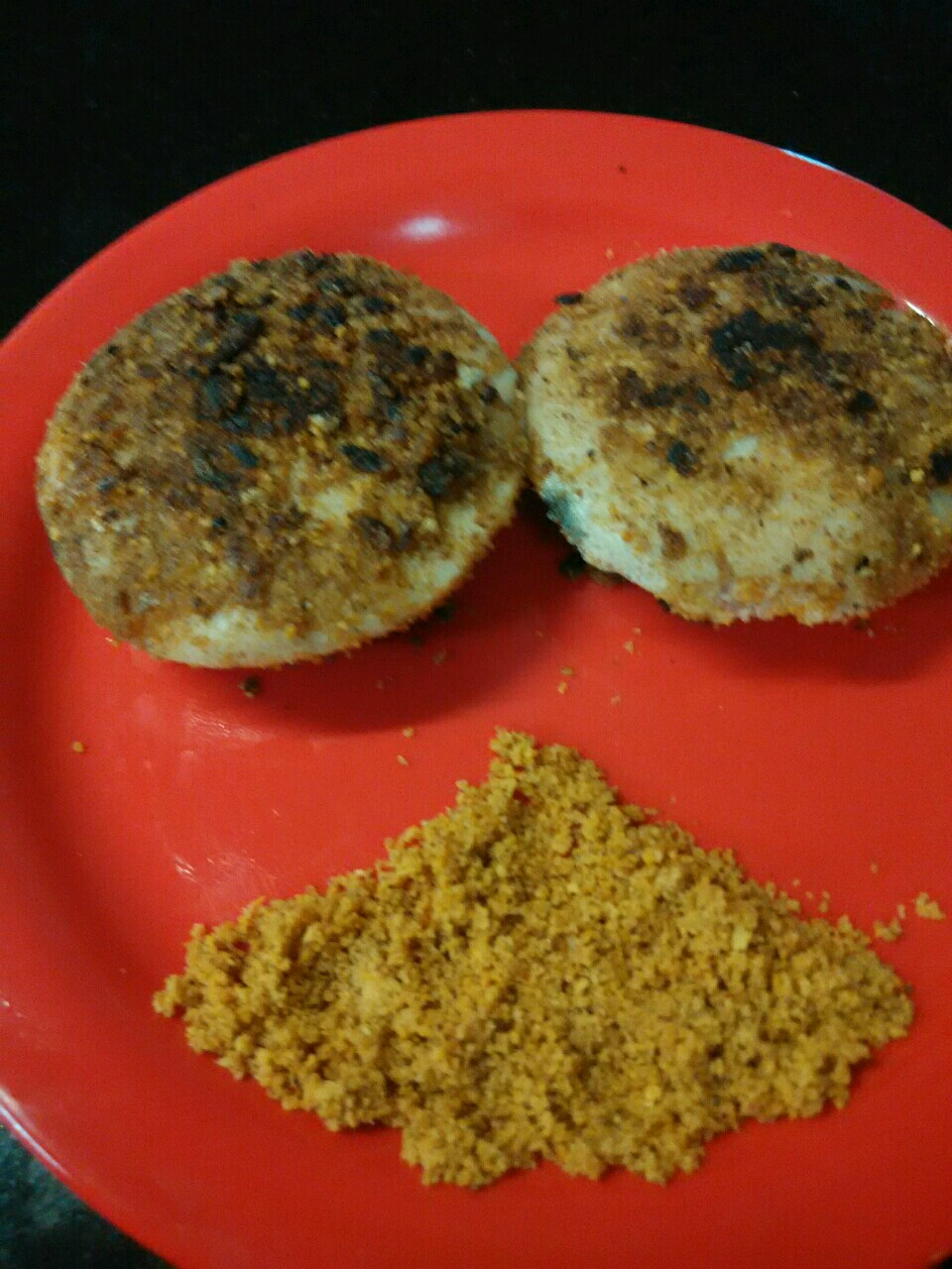 Butter/Ghee fried Poongar idli