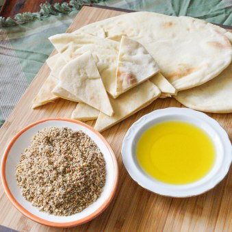 dukkah and olive oil