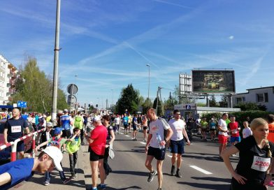 Przed startem –  Bieg 10 km Szpot – Swarzędz