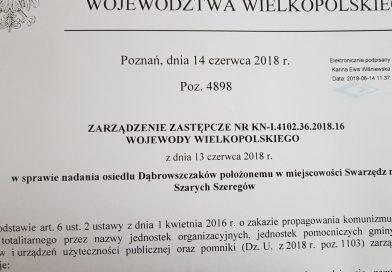 Czy wojewoda zmieni nazwę Osiedla Dąbrowszczaków?